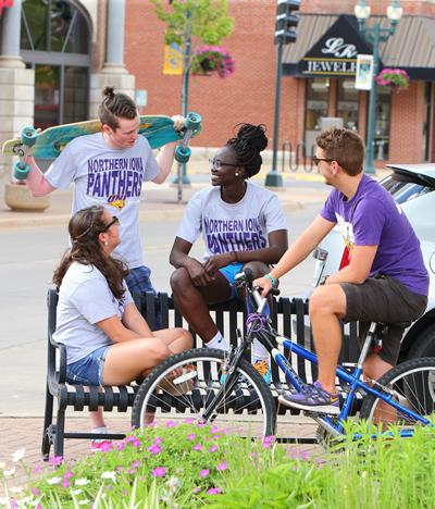 Students on Main street